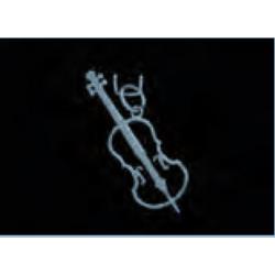 Medálok különböző hangszerek, rozsdamentes acélból