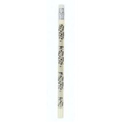 Ceruza, krém színű, kottamintával