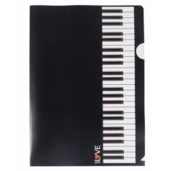 Irattartó, dokumentum tartó, zongorabillentyű mintás, A/4 méretű