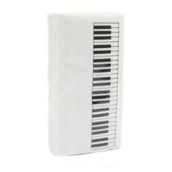 Papírzsebkendő zongorabillentyű mintás 10 db-os