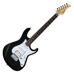 Cort elektromos gitár, hársfa test, Alnico PU, fekete