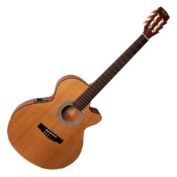 Klasszikus gitár elektronikával, matt natúr