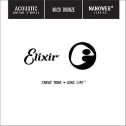 Akusztikus gitárhúr Elixir 022 darab Nanoweb 80/20 Bronze