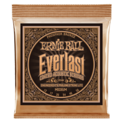 Akusztikus gitárhúr Ernie Ball everlast coated p. bronze medium 13-56