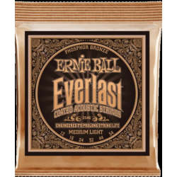 Akusztikus gitárhúr Ernie Ball EVERLAST COATED P. BRONZE MEDIUM LIGHT 12-54