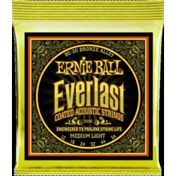 Akusztikus gitárhúr Ernie Ball EVERLAST COATED BRONZE MEDIUM LIGHT 12-54