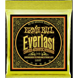 Akusztikus gitárhúr Ernie Ball everlast coated bronze light 11-52