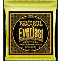 Akusztikus gitárhúr Ernie Ball everlast coated bronze extra light 10-50