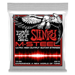 Elektromos gitárhúr készlet Ernie Ball m-steel skinny top heavy bottom slinky 10-52
