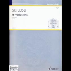 18 VARIATIONS POUR ORGUE OP.3.(1956)