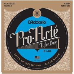 Klasszikus gitárhúrkészlet D'addario EJ48 hard