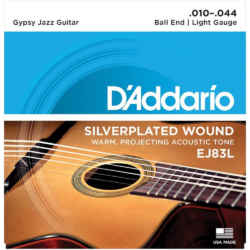 Akusztikus készlet D'Addario Gypsy Jazz Ball End Light 10-44