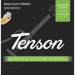 Akusztikus gitárhúrkészlet bronz, Tenson (hight)