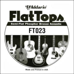 Akusztikus gitárhúr D'Addario  FlatTops SemiFlat FT023