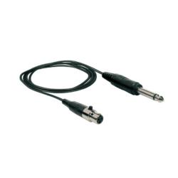Kábel Mini XLR aljzat. - 6,3 jack mono
