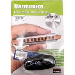Szájharmonika iskola + CD + Cascha szájharmonika