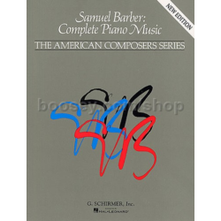 SAMUEL BARBER,COMPLETE PIANO MUSIC NEW EDITION