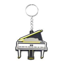 Kulcstartó Grand Piano kivitelben, fehér