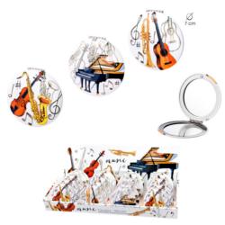 Piperetükör színes, hangszeres mintával