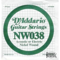 Elektromos gitárhúr D'Addario NW038