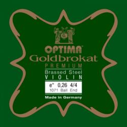 Hegedűhúr Optima Goldbrokat Premium Brassed  E