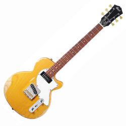 Cort elektromos gitár, koptatott sárga