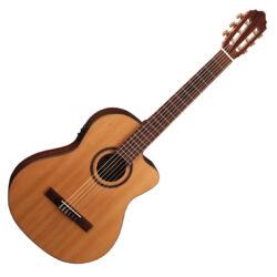 Cort klasszikus gitár elektronikával, vékonyított test, natúr