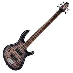 Cort el.basszusgitár 5 húros, Aktív, szürke burst