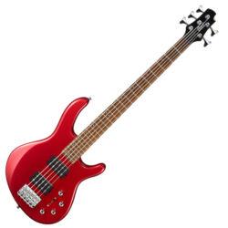 Cort el.basszusgitár, 5 húros, vörös