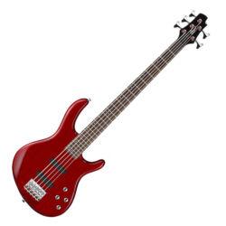 Cort el.basszusgitár, Aktív, 5 húros, vörös