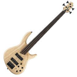 Cort el.basszusgitár fretless, Markbass Preamp, natúr