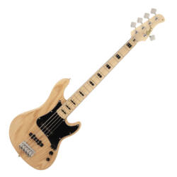 Cort el.basszusgitár, 5 húros, natúr