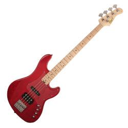 Cort el.basszusgitár, JH, aktív, áttetsző vörös