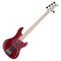 Cort el.basszusgitár, 5 húros, JH, aktív, piros