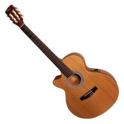 Cort klasszikus gitár elektronikával, matt natúr, balkezes - LIMITÁLT