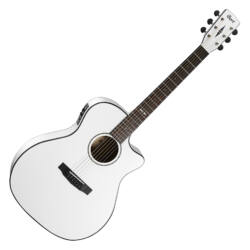 Cort akusztikus gitár Fishman EQ, fehér