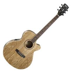 Cort akusztikus gitár EQ-val, Ash Burl, natúr