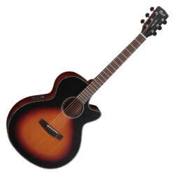 Cort akusztikus gitár elektronikával, matt sunburst
