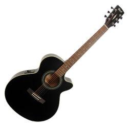 Cort akusztikus gitár EQ-val, matt fekete
