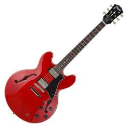 Cort el.gitár tokkal, félakusztikus, cseresznye