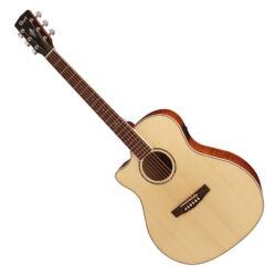 Cort akusztikus gitár elektronikával, natúr, balkezes