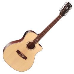 Cort akusztikus gitár elektronikával,12 húros, natúr