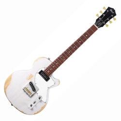 Cort elektromos gitár, koptatott fehér