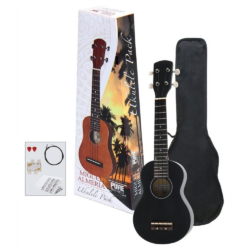 Ukulele szoprán Almeira Player Pack fekete