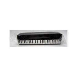 Ceruzatartó zongoramintás, fekete színben