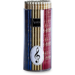 Ceruza violinkulcsos, radírral, különféle színekben