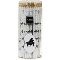 Ceruza fehér, zongoramintás, radírral