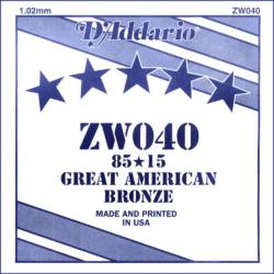 Akusztikus gitárhúr D'Addario  ZW040