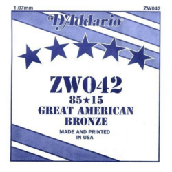 Akusztikus gitárhúr D'Addario  ZW042
