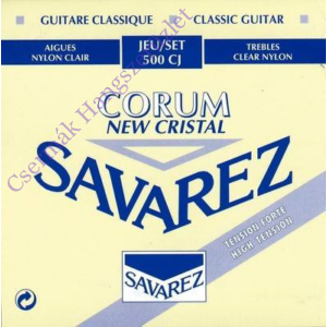 Klasszikus gitárhúrkészlet high tension Savarez Cristal Corum